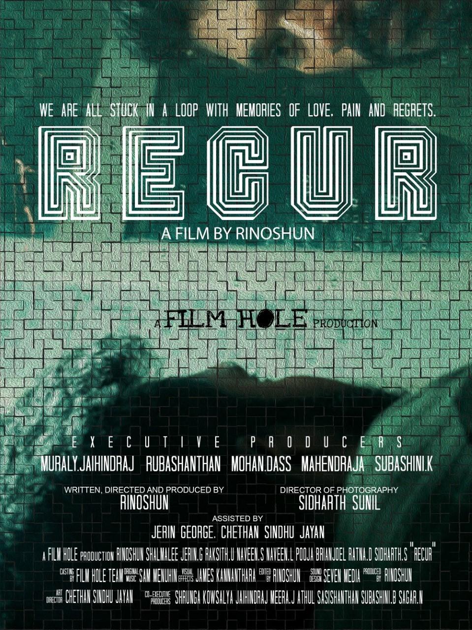 Poster for Recur showing protagonist.