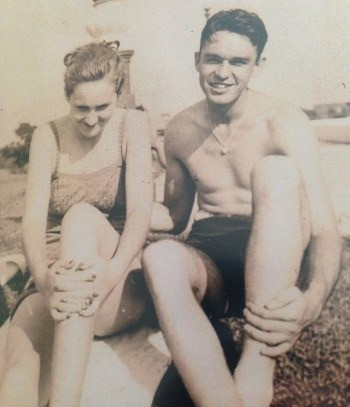 Me and Mary, c. 1940.