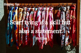 Scarf tying is a skill but also a statement.