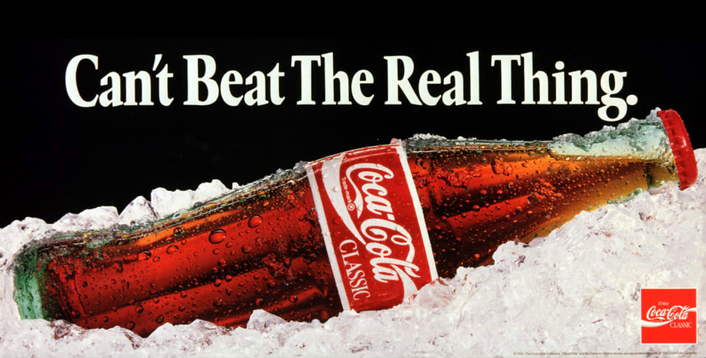Anuncio de Coca-Cola: The Real Thing.