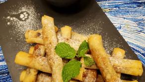 蘋果提子捲 配 法式奶蛋醬