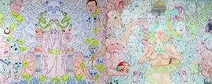 God of Forces Bibical Revelations Illustration Mural