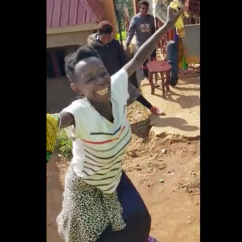 Ugandan Woman's Reaction to Receiving Her First-Ever Pair of Shoes Will Melt Your Heart