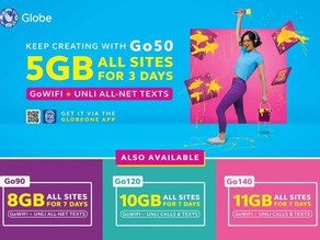 Enjoy up to 11 GB a week with Globe's new Go promos!