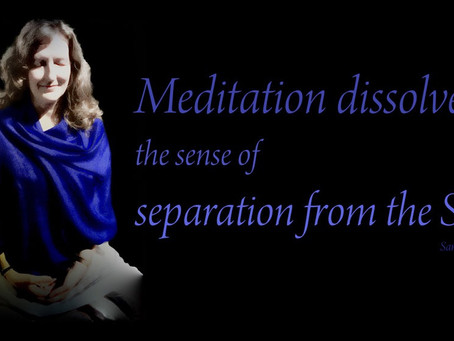 In Meditation we experience our Oneness with the Divine Self