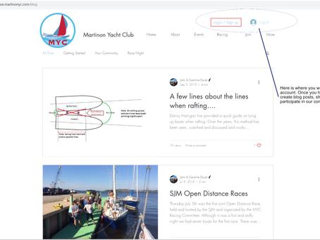 Your blog and MYC community forum