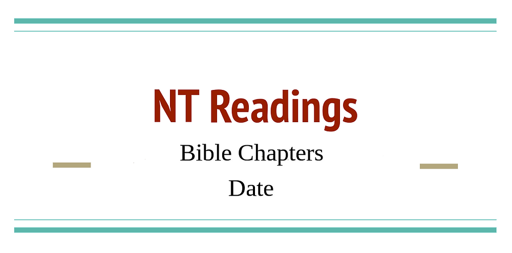 Google Slides Title Page of NT Readings