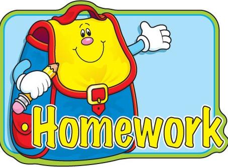 Reception Homework