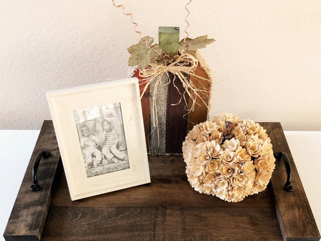 DIY Decorative Wood Tray