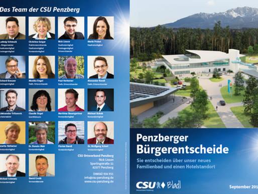 Penzberger Bürgerentscheide: Lesen Sie alle Argumente jetzt im CSU Bladl