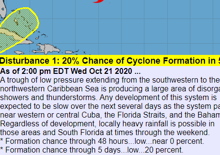 Potential tropical system: