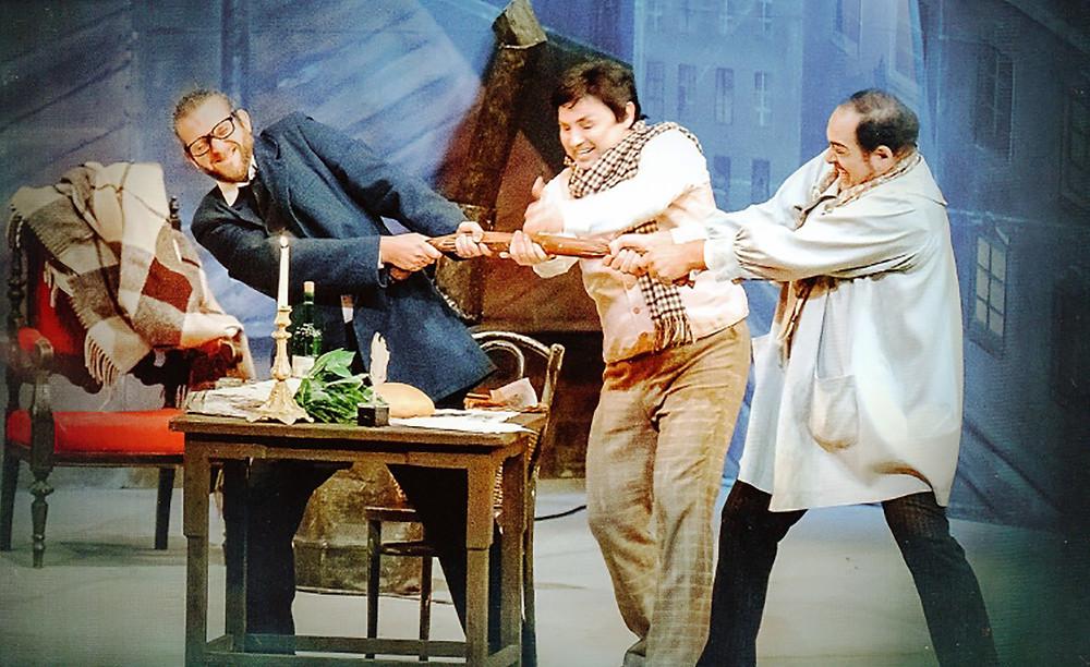 Vadim Cernovettky, Vitali Likovetsklyi and Iurie Gisca in Ellen Kent's La Boheme at the Palace Theatre, Manchester
