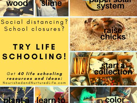 School Closures? 40 Life Schooling Activities!