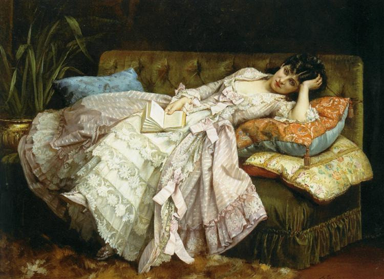 "Auguste Toulmouche, ""Sweet Doing Nothing,"" 1877"