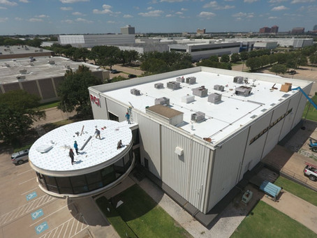 Green Star Commercial Roofing is Installing another TPO roof in Dallas, TX