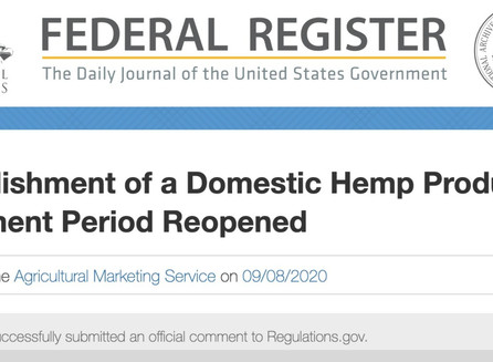 Hemp Comments Submitted to USDA