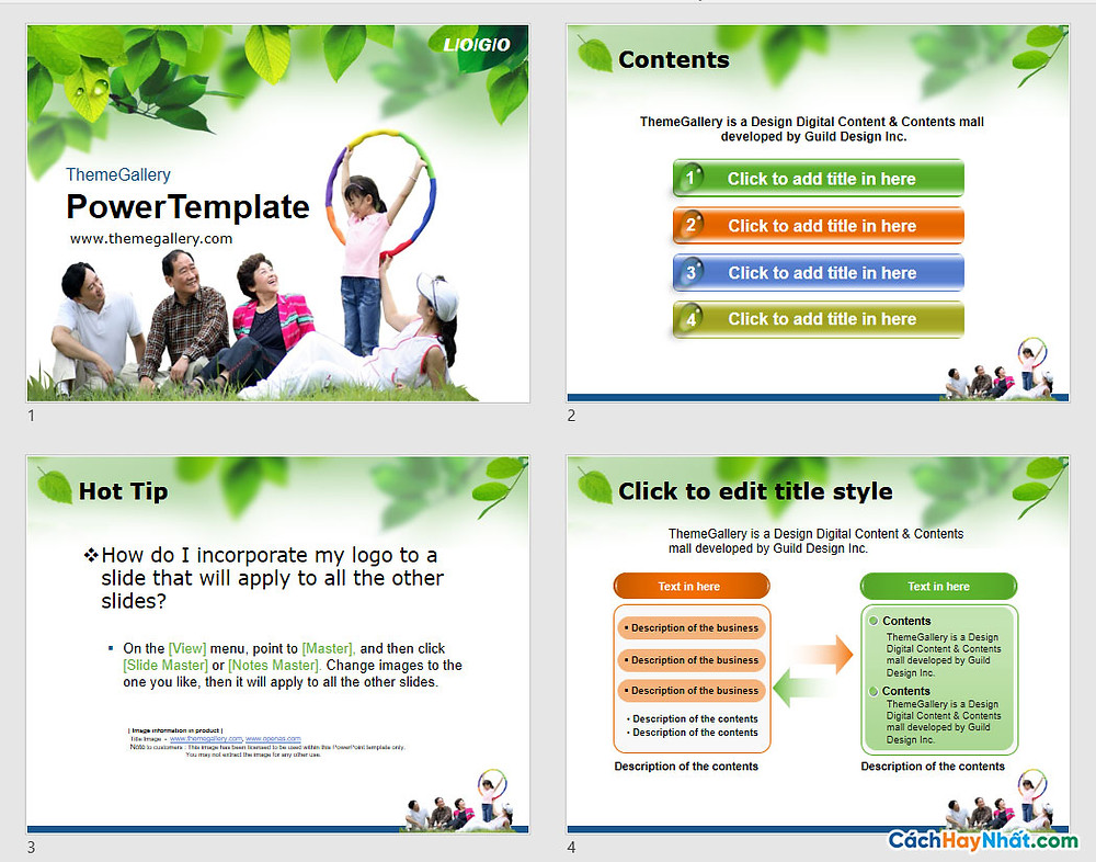 PowerPoint Template 575TGp_happiness_light