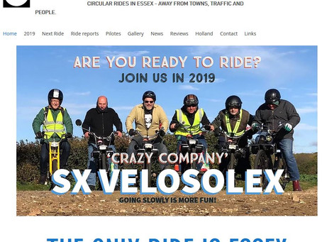 SX Velosolex rides have now finished until Spring 2020