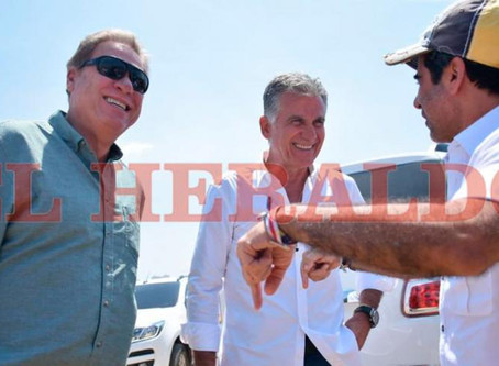 El portugues Carlos Queiroz de visita en Barranquilla