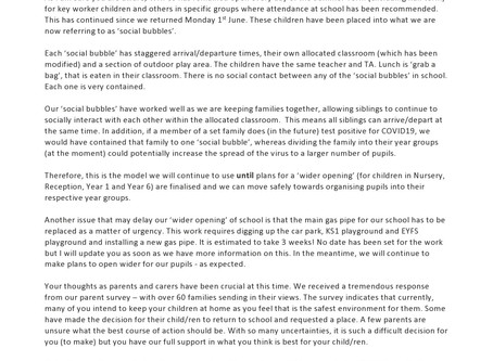 Parent Letter and FAQ sheet (4/6/2020) - Please read this update carefully.
