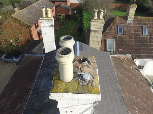 Chimney flaunching requires repair