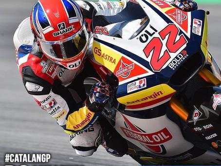 สรุปอันดับของนักแข่ง SHARK รายการ Moto2 สนามที่ 7 ที่สนาม Circuit de Barcelona-Catalunya ประเทศสเปน