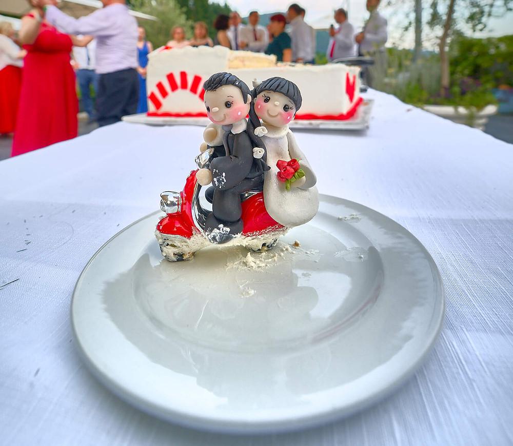 decorazione torta matrimonio, sposi, fotografo matrimonio
