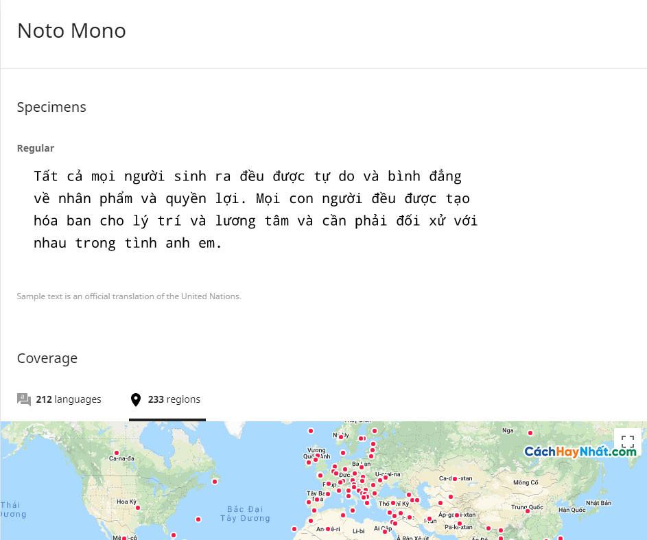 Font Noto Mono