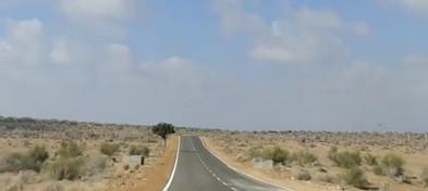 Jaisalmer-Longewala highway