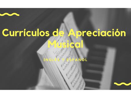 Currículos de Apreciación Musical