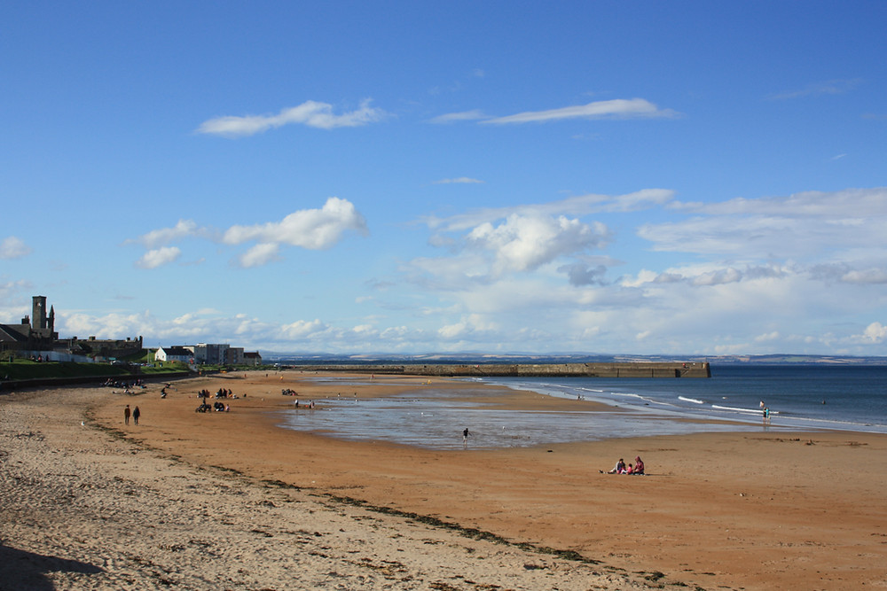 East Sands beach in St Andrews, Scotland