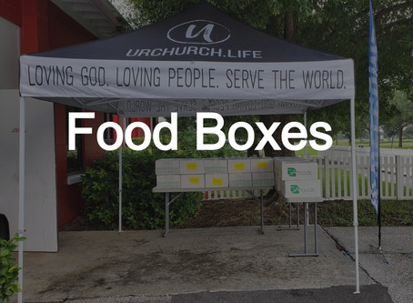 Food Boxes Today 7:00 pm until Supplies last