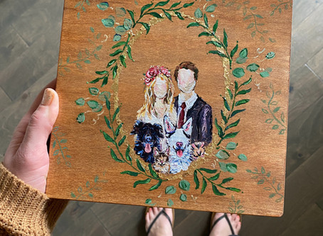 Artsy Wedding Memory Box
