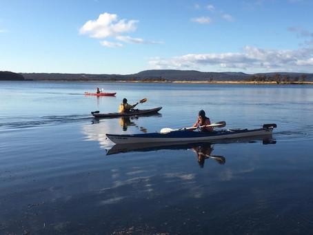 Iniciación al kayakismo en Tolhuin
