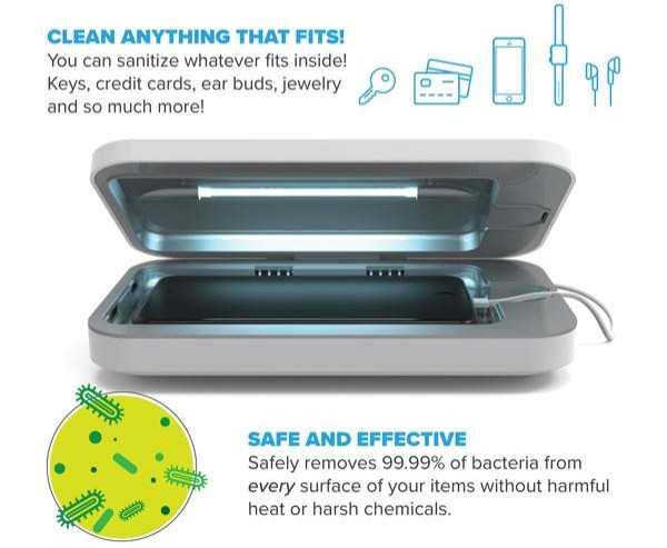 phonesoap kills germs bacteria coronavirus