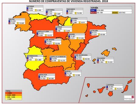 El precio de la vivienda crece en España un 8% de media en 2018