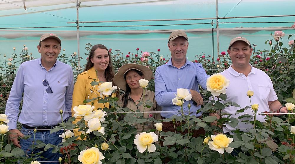 Members of Alexandra Farms with David Austin Jr.