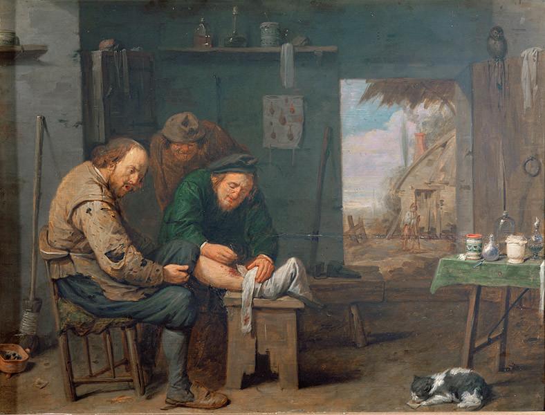 Barbero cirujano de la Edad Media.