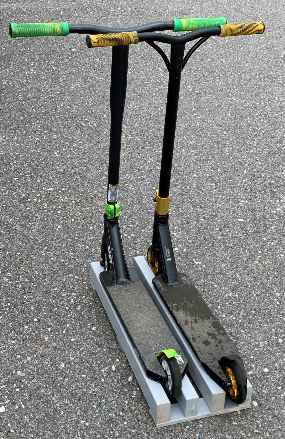 Smart förvaring till sparkcyklar - DIY