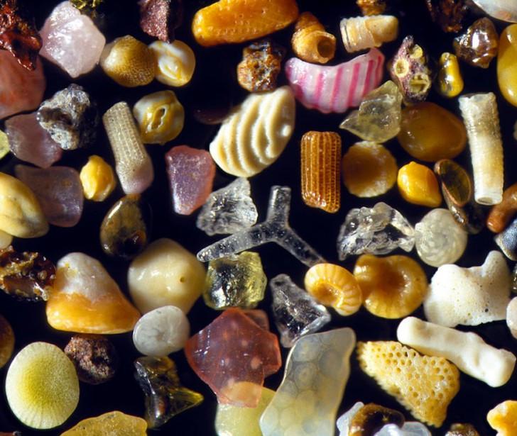 Photos Grains de sable au microscope