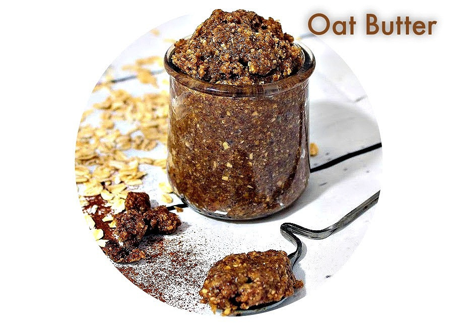 vegan oat and nut butter spread and dip