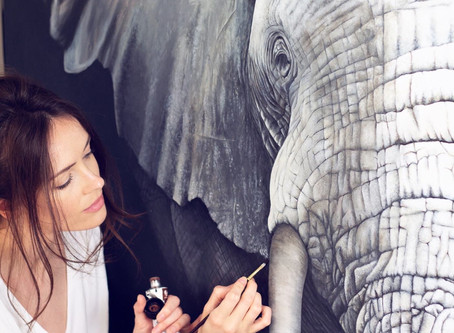 Update: Elephant Painting Commission