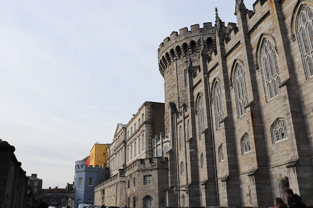 Dublin Castle from the outside in Ireland