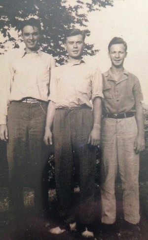 Me (left) with my brothers Dave and Jim, c. 1930s.