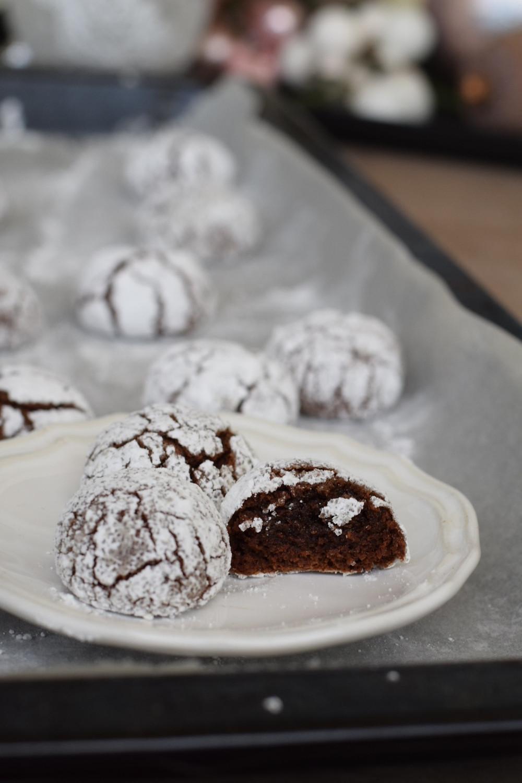 crinkle cookies, raspuknuti keksići, razpokani piškoti, helenine čarovnije