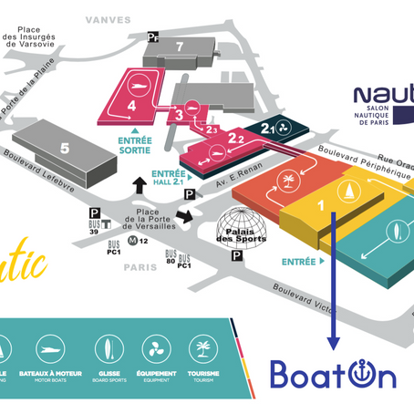 Retrouvez BoatOn au Nautic de Paris 2018