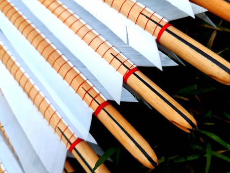 """Nice big set of 1/2"""" tapered military arrows"""