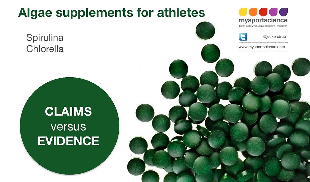 Algae spirulina chlorella supplements for athletes
