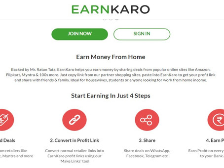 Passive Income Opportunity by EarnKaro [Backed by Mr.Ratan Tata] - Ideal for housewives!!