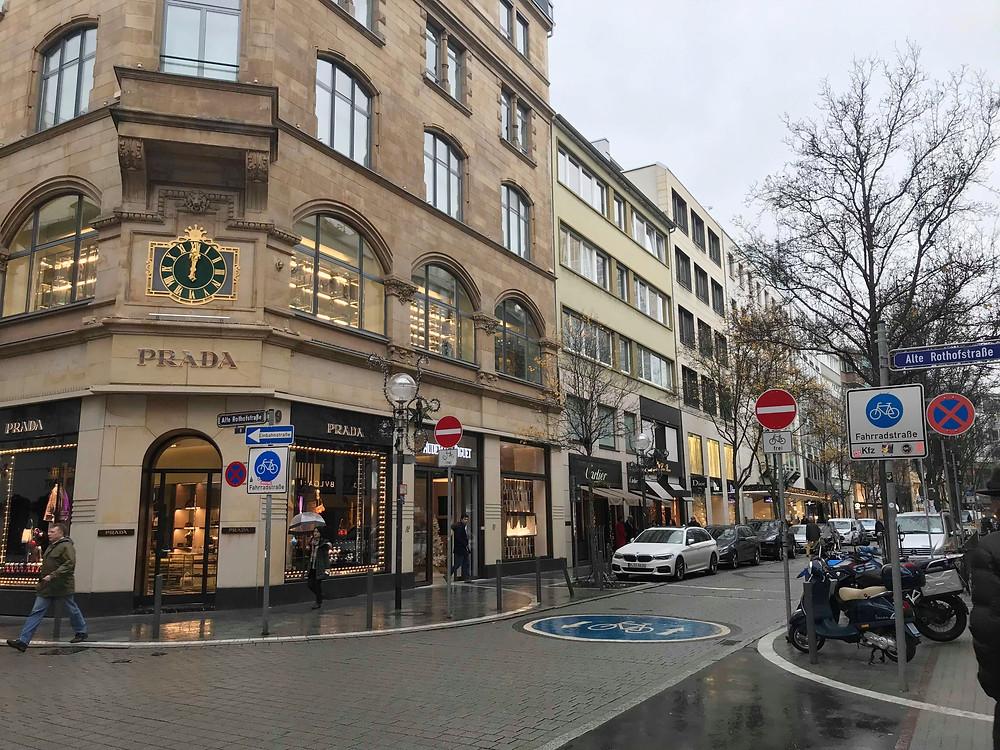 Goethestrasse luxury shopping street in Frankfurt Germany
